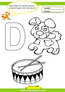 7 letter d worksheets and coloring pages