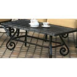 Wrought iron patio coffee table antique topaz shopperschoice com