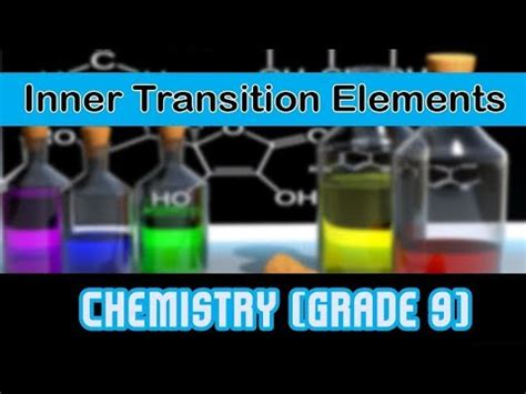 the periodic table types of element inner transition