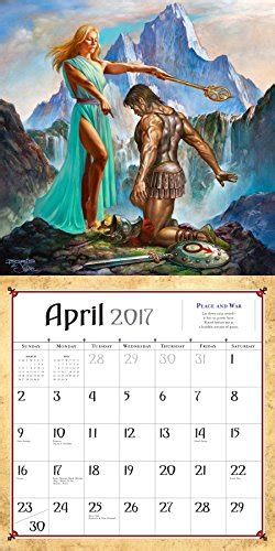 boris vallejo julie bell s fantasy wall calendar 2017 import it all