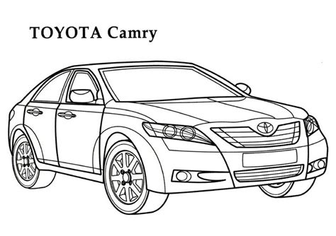 toyota car coloring page toyota camry car coloring page coloring pages