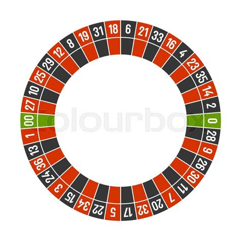 roulette layout vector roulette casino wheel template with double zero on white