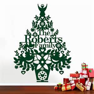 Christmas Tree Wall Stickers Personalised Christmas Tree Wall Decal By Ink Pudding