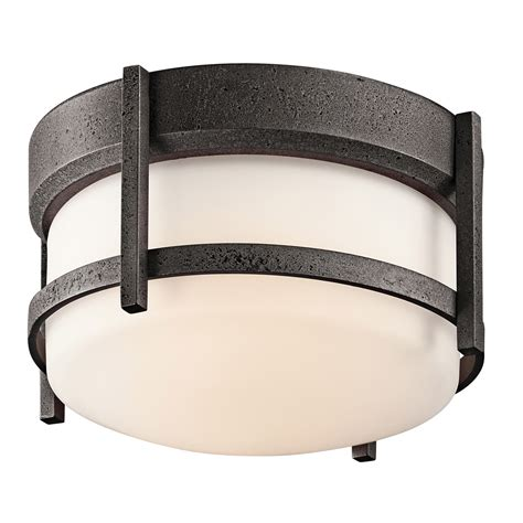 Outdoor Ceiling Light Fixtures Kichler 49125avi Camden Outdoor Flush Mount Ceiling Fixture