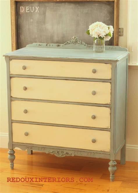 Two Color Dresser by Like The Two Tone Painted Furniture
