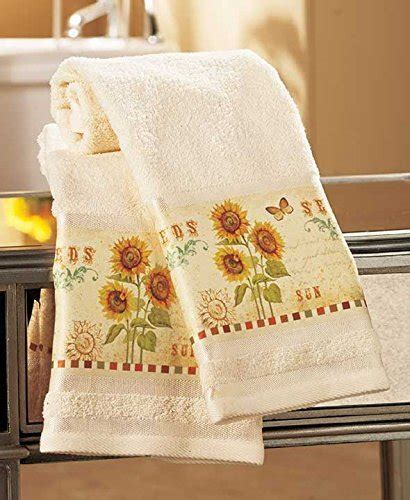 Sunflower Kitchen Towels by Sunflower Bathroom Accessories And Decor