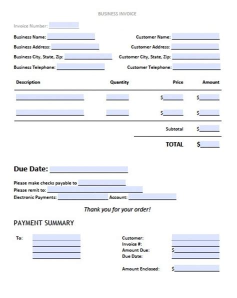 template for business invoice invoice template 2017