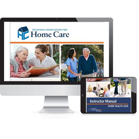 michigan home health aide instructor resources oncourse