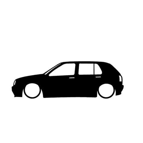 Auto Sticker Low by 18 6 Cm Car Stickers Low Car Outline Stickers Cartoon