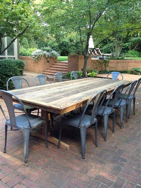 outdoor farm table and bench outdoor patio rustic farm tables we ll make you one i