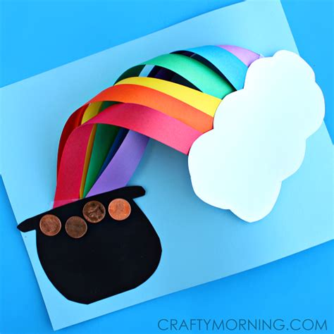 st patricks day craft 3d the rainbow st s day craft crafty morning
