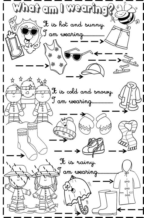 weather and clothes activities