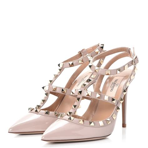 Kaos Valentino Shoes Bw valentino patent rockstud ankle pumps 36 5 poudre 238082