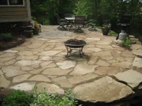stone patio ideas river