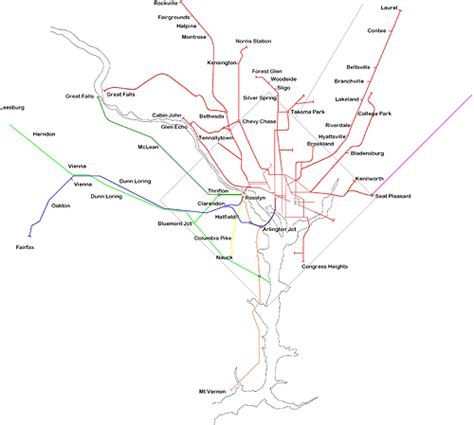 washington dc tram map see all historic dc area trolley routes on one map