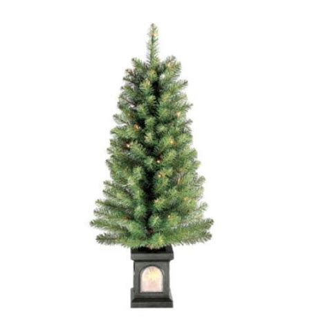 4 ft pre lit christmas tree with decorative pot 9 99