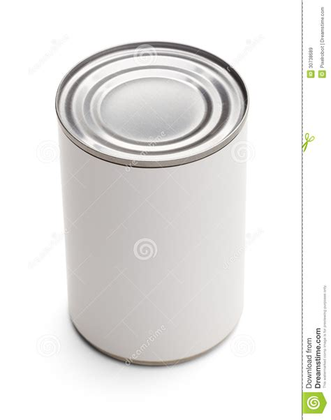 White Kitchen Canister by Generic Tin Can Royalty Free Stock Images Image 30738689