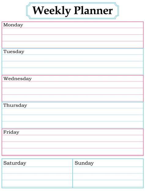 printable homework weekly planner homework calendar and organizer planner on pinterest