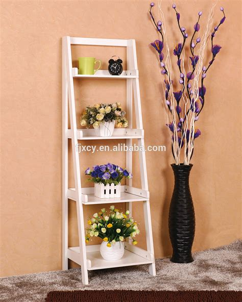 sell home decor products hot sell home decor cheap quality 5 tier white wood ladder