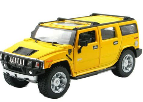 Diecast Hummer yellow black 1 32 scale diecast hummer h2