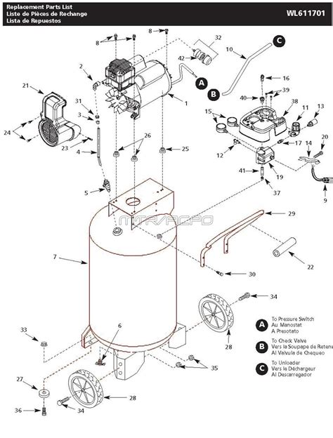 campbell hausfeld wl air compressor parts