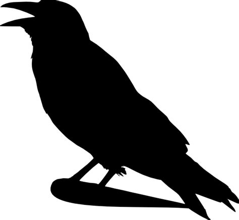 printable magpie targets crow silhouette clip art at clker com vector clip art