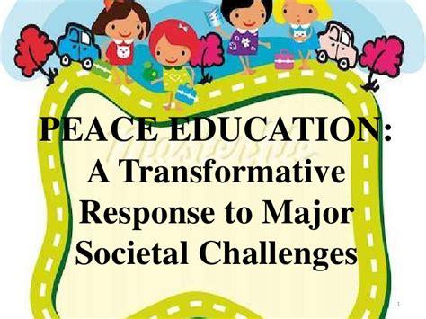 themes of peace education peace education