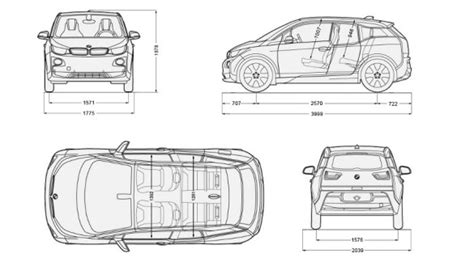 Bmw I3 Dimensions by Bmw I3 Official Specs Autos Post