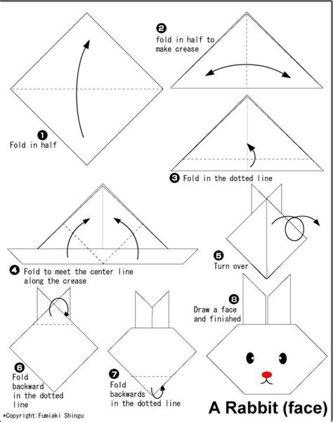 How To Make A Origami Easter Bunny - 25 unique simple origami for ideas on
