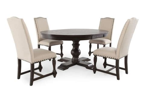 Five Piece Dining Room Sets 5 piece round dining set by winners only mathis brothers