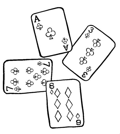 Free Coloring Pages Of Playing Card Card Coloring