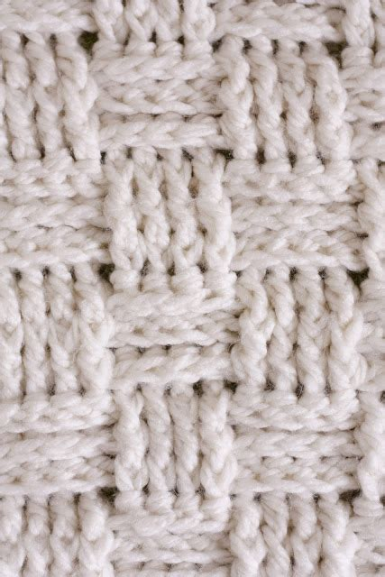 afghan pattern chunky yarn crochet a baby blanket using a basket weave stitch and