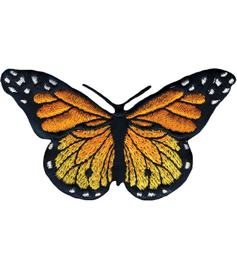 applique iron wrights iron on appliques monarch butterfly 3 quot x1 3 4 quot 1
