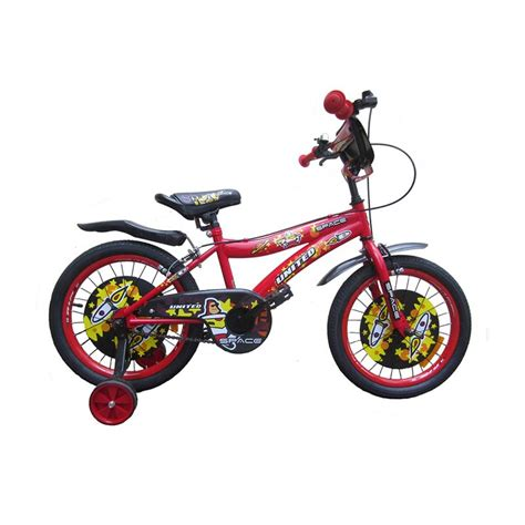 Sepeda Keranjang United jual united space sepeda anak merah 18 inch