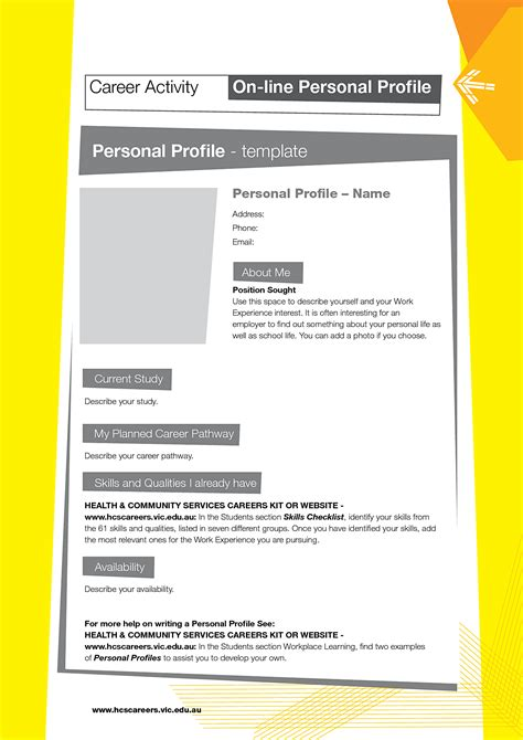 personal profile design templates business profile template mughals