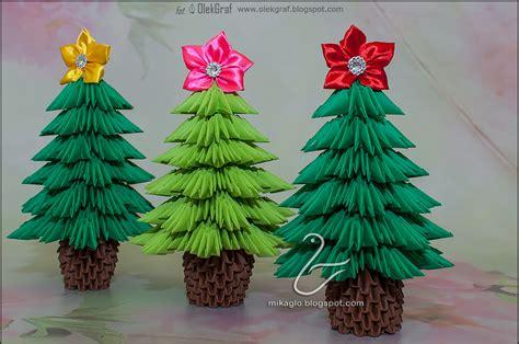 501 choinki z origami 3d origami christmas trees