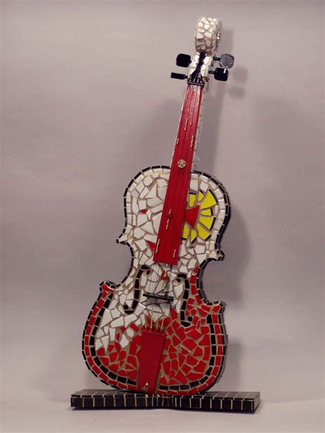 mosaic violin pattern 17 best images about mosaic works on pinterest old