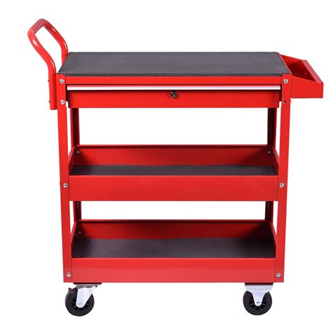 Rolling Cart With Locking Drawers Metal Rolling Tool Cart Storage Chest Box Wheels Storage