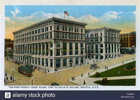 Seattle Court Search King County Courthouse Seattle Washington Usa 1916 Stock Photo Royalty Free Image