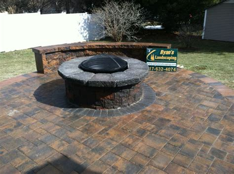 pit on pavers 17 best images about nicolock fireplaces pits on