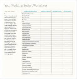 Printable Wedding Budget Template Wedding Template 21 Free Word Excel Pdf Psd