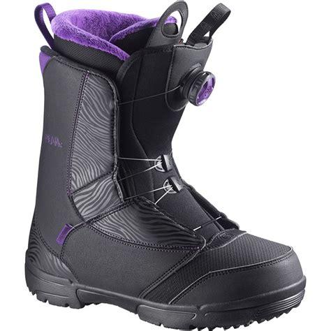 salomon pearl boa snowboard boots s 2016 evo outlet