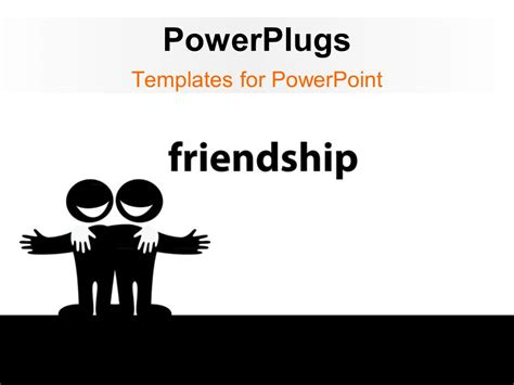 powerpoint templates love and friendship powerpoint template illustration of two best friends