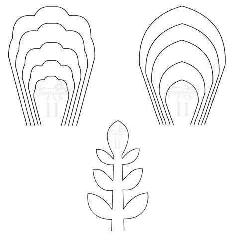 set   flower templates   leaf template giant