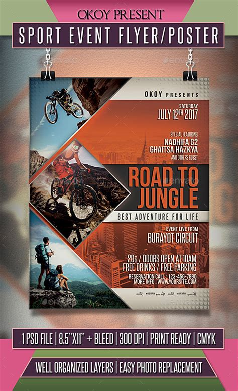 Sport Event Flyer Poster By Okoy Graphicriver Sports Event Flyer Template Free