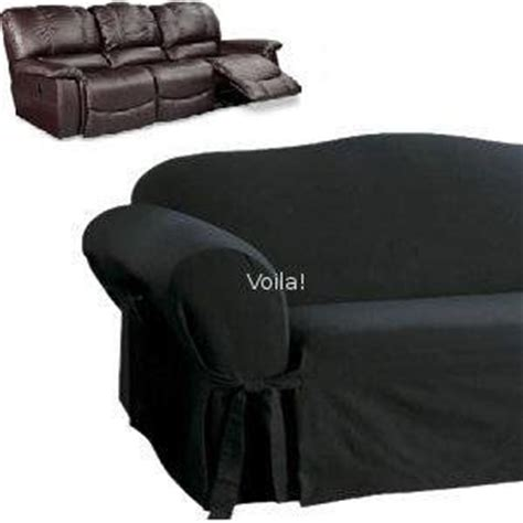 black recliner slipcover reclining sofa slipcover black suede adapted for dual