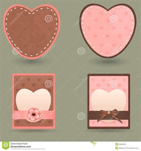 establecer etiquetas vintage con los corazones vector de etiquetas engomadas del vintage fotos de archivo imagen