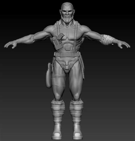 zbrush posing tutorial creating a warrior character part 5