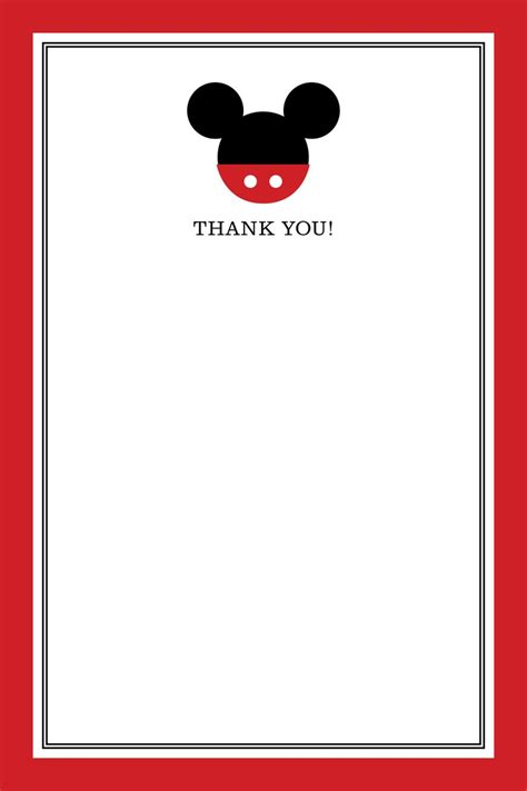 mickey mouse thank you card template 428 best mickey minnie mouse images on mini