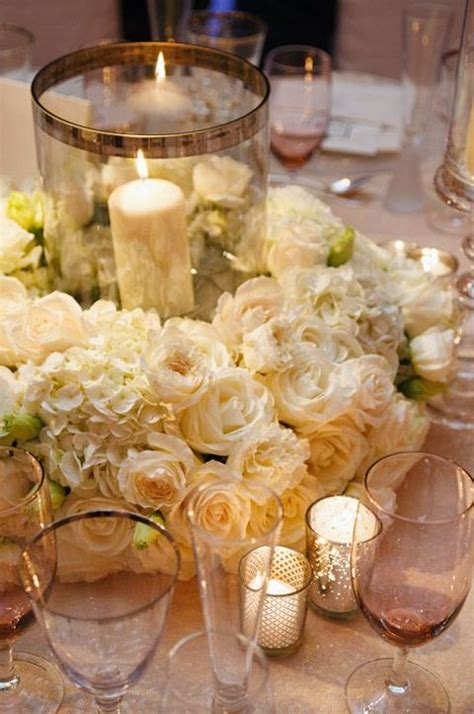 wedding centerpieces with candles and roses 2 50 candle lanterns for your wedding happywedd
